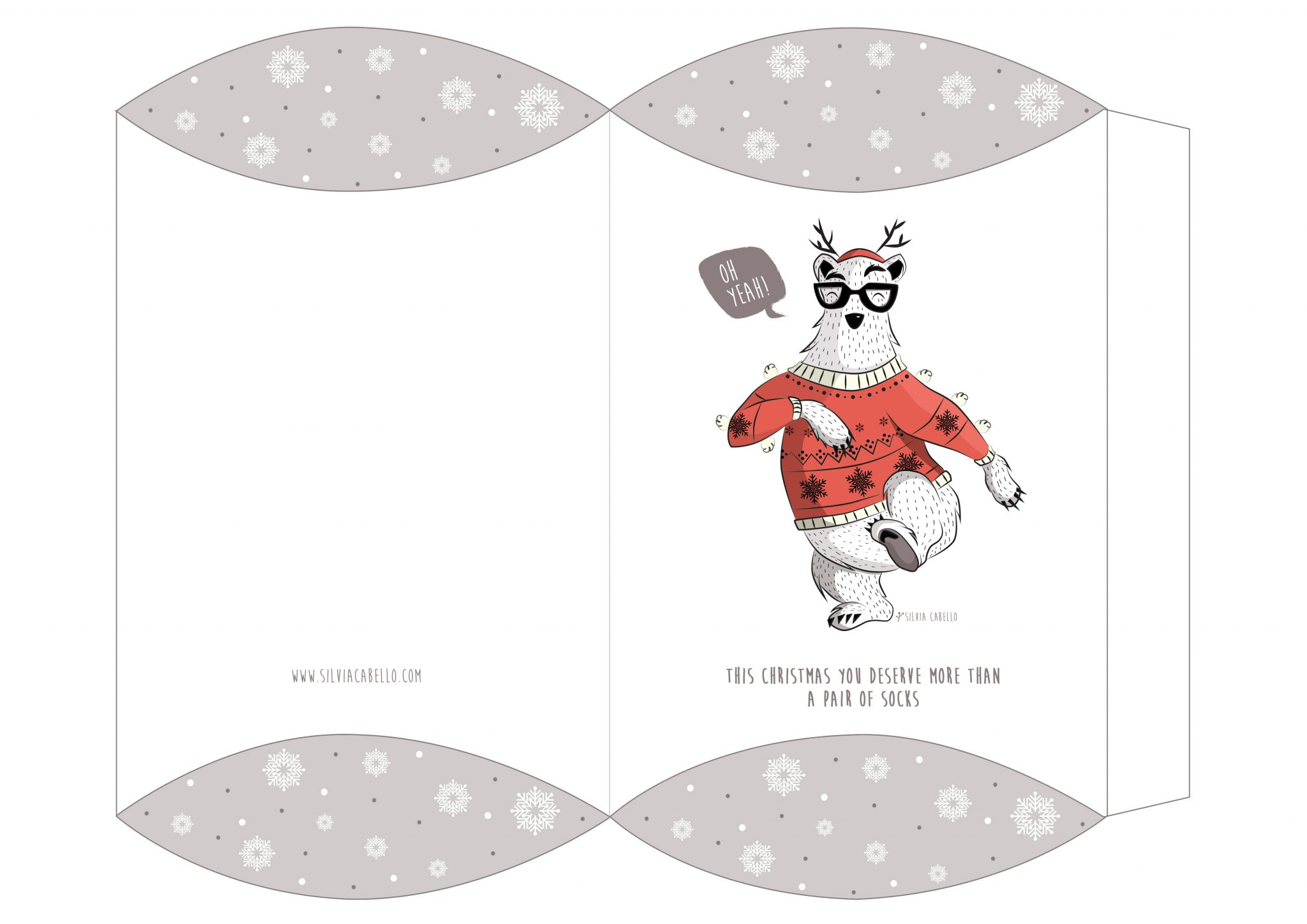 bear christmas character kids design illustration