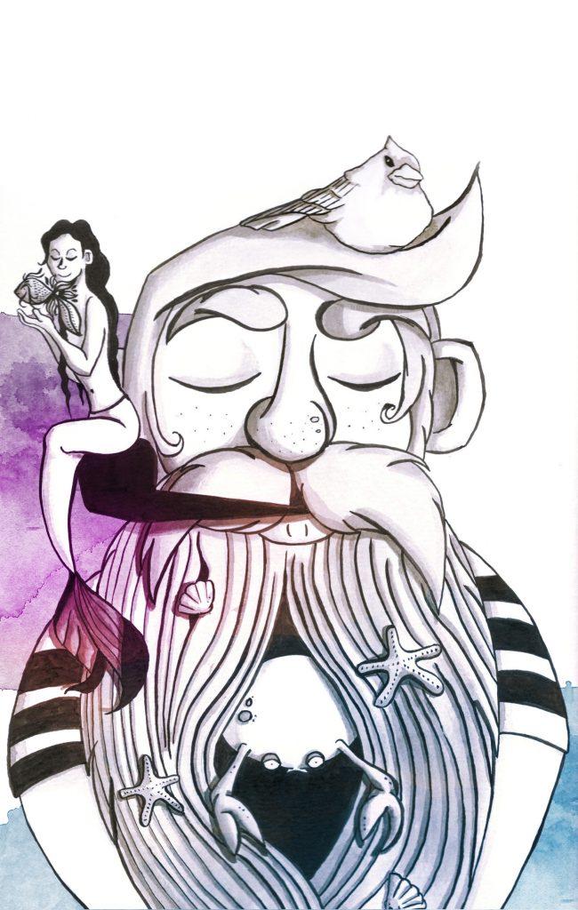 home decoration sailor fantasy illustration