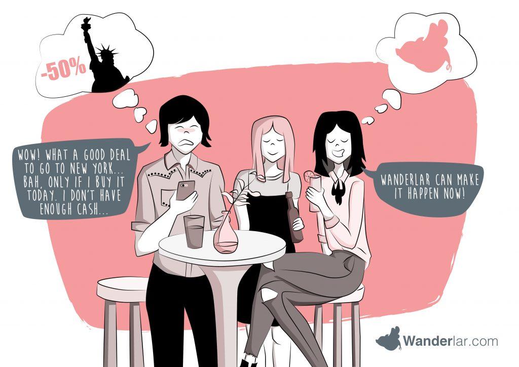 wanderlar branding illustration startup fintech