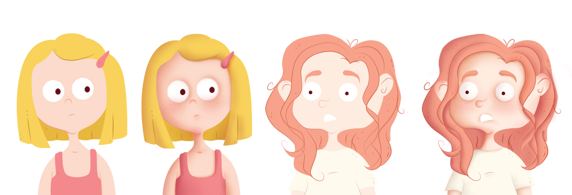 kids character design faces expressions