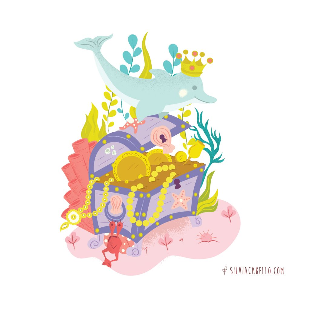 puzzle animals characters fantasy kids treasure sea ocean