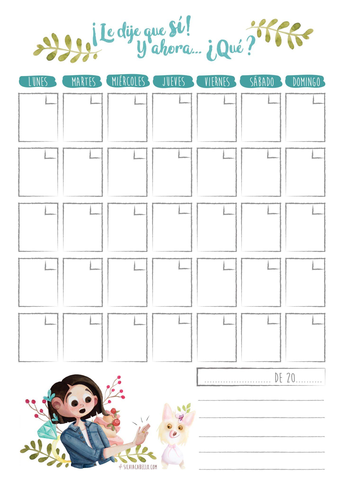 wedding illustration planner calendar