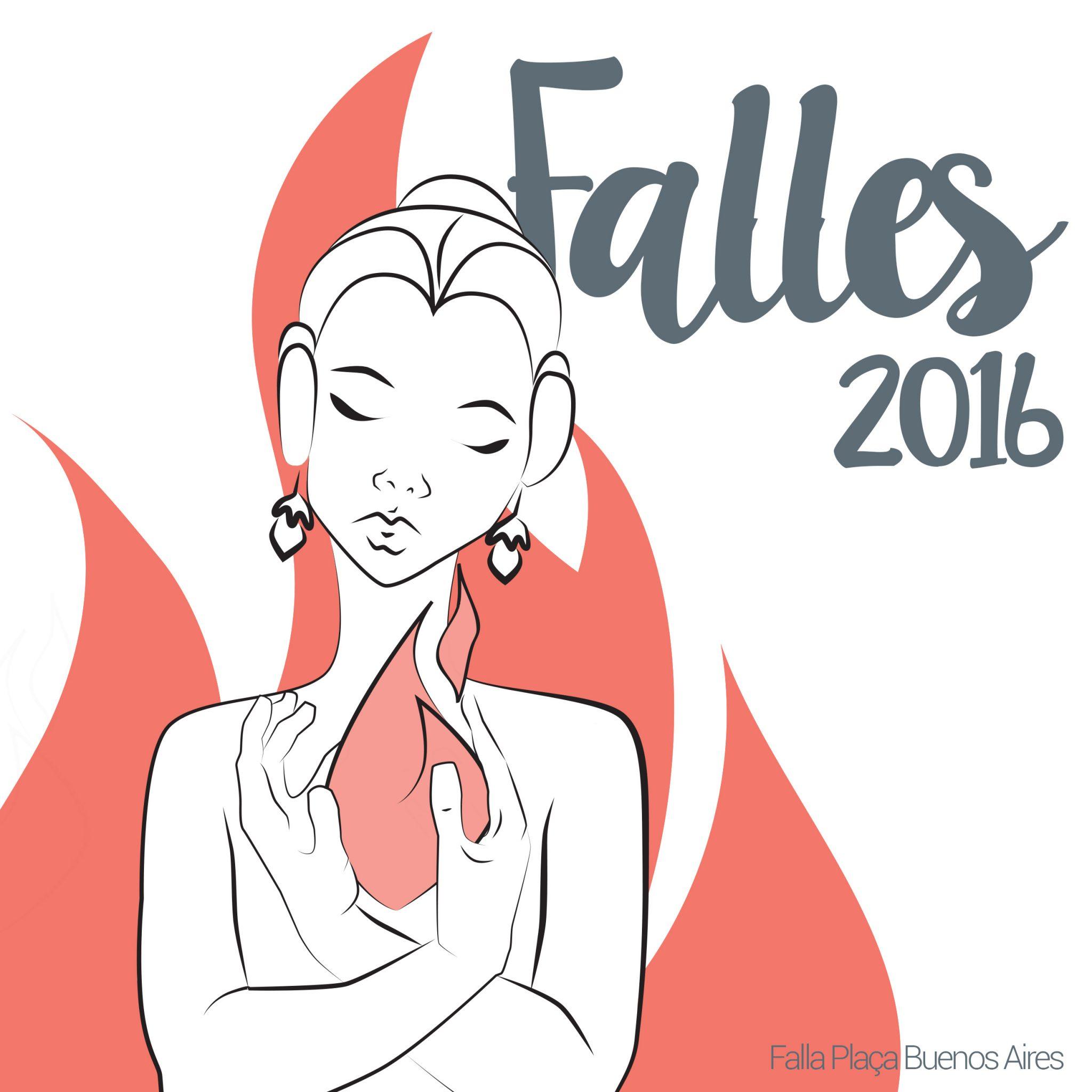 fallas book cover fire tradition illustration fallera