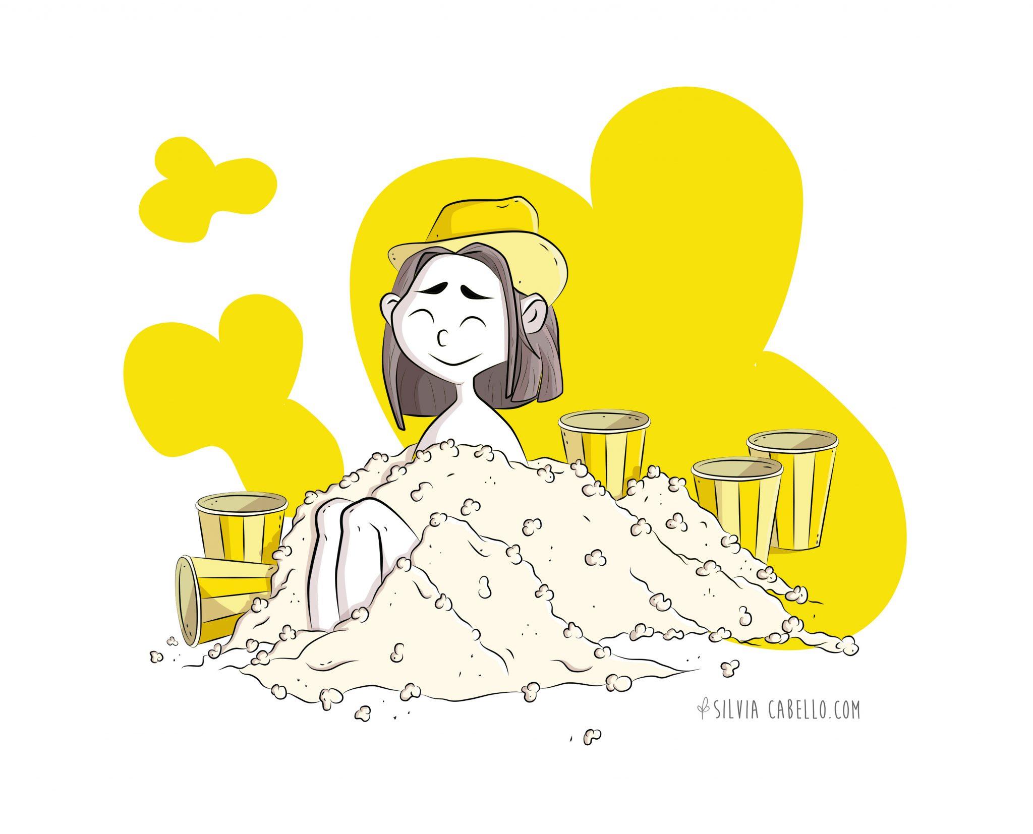popcorn illustration cinema promotion poster